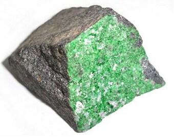 Uvarovite Green Garnet Crystals Specimen Russia Ural