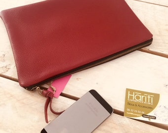 Chic essential leather clutch - hariti