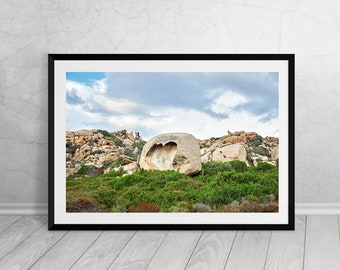 Heart shaped rock, Corsica, France, French, Fine Art, Photography, Downloadable Art, Printable Art, Home Decor, Best Seller