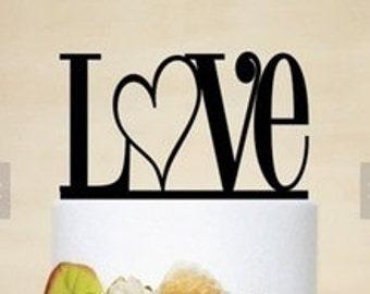 LOVE Arcylic Cake Topper Wedding Cake Topper