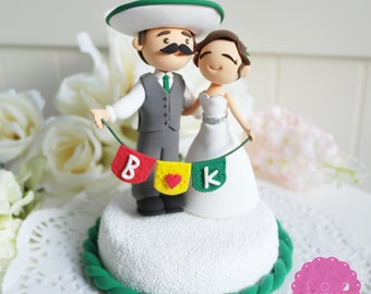 Custom Cake Topper- Mexican Fiesta Theme Couple