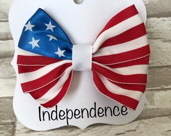 """4"""" Independence day- 4th of July- Bow"""