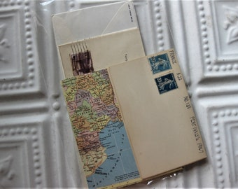 Vintage Map, Envelopes and Stamps Ephemera Pack, 32 Pieces  Scrapbooking, Journaling, Collage