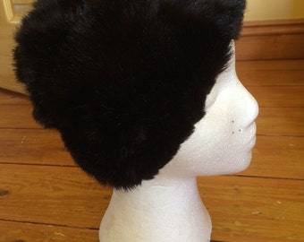Lovely Fluffy Brown Vintage Hat by Modele de Paris, made in Belgium.
