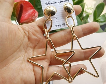 Acrylic Fashion Geometric earring (Golden)