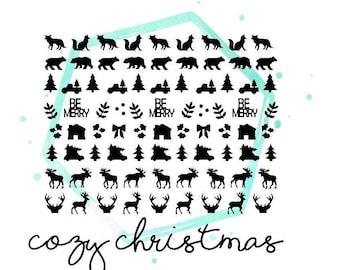Cozy Christmas Vinyl Nail Stickers