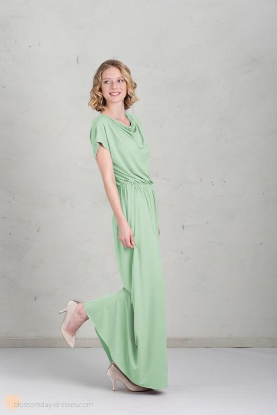 langes Brautjungfernkleid Mathilda Mintgrün
