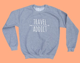 Travel Addict  - Crewneck Sweatshirt