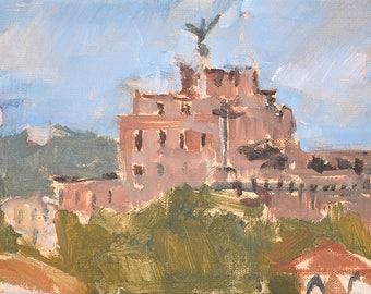 Castel Sant'Angelo, Rome Italy Painting Original