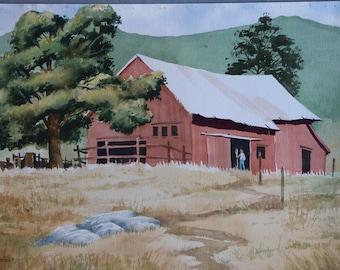Walking into Barn