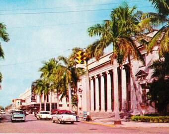 Fort Meyers Florida Street Scene 1950's Vintage Cards Collectible Paper Ephemera