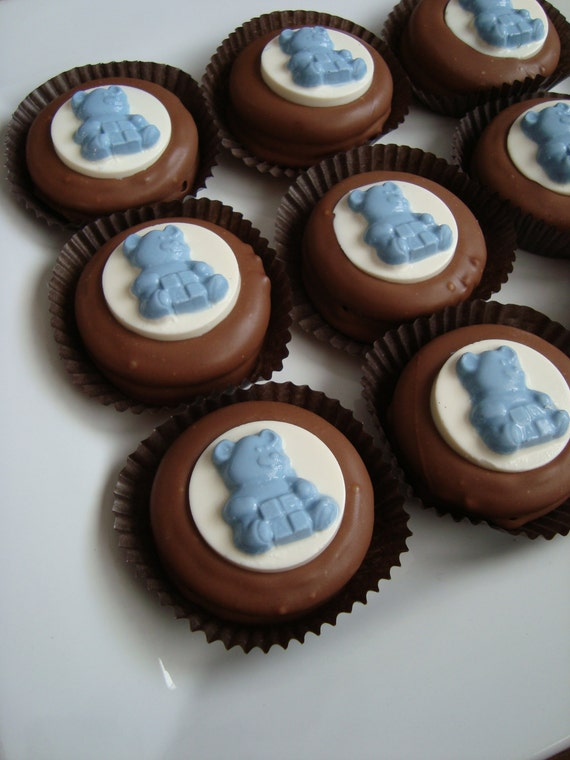 12 Chocolate Oreo Cookies Teddy Bear Baby Shower Party Favors