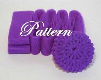 Scrubbie Pattern For Nylon Netting Dish Scrubbies