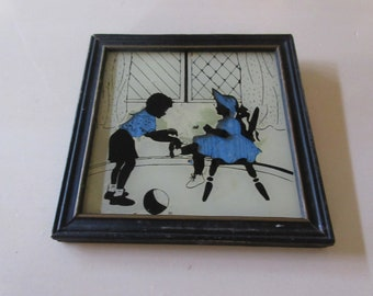 BOY and GIRL SILHOUETTE Wall Decor