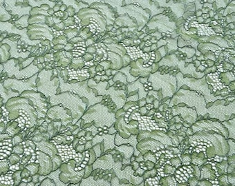 Dark Green Chantilly Lace Fabric, Green Lace, Forest Bride, Irish Brides Maids, Wedding Dress, Lingerie