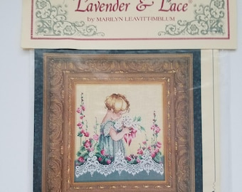 """Lavender and Lace counted cross stitch chart """"Emma's Garden"""" brand new"""