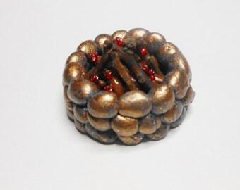 Fairy Miniature Firepit/Campfire-OOAK-Polymer Clay-Terrarium/Garden Accessory
