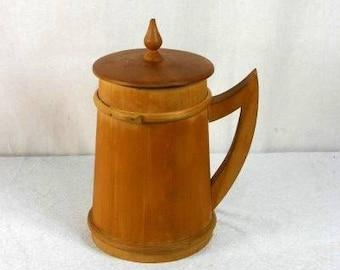 Vintage Wooden Beer Mug Vintage Wooden Beer Jug Beautiful Old Wood Mug