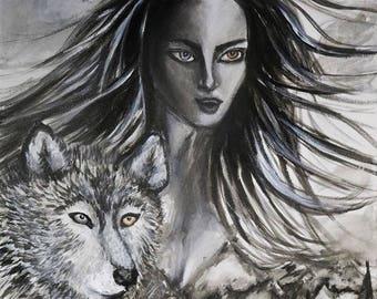 Through Wilderness (Original Art)