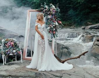 WEDDING TRAIN +120 EURO, Wedding dress with train,Bohemian wedding dress,Wedding dresses,Modern wedding dress,