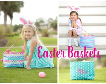 Personalized Easter Bucket, Monogram Easter Bucket, Easter Bucket, Kids Easter Bucket, Personalized Easter Bucket Girl, Easter Bucket Boy