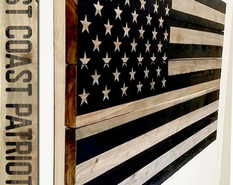 American Flag - Unplugged - Wooden Wall Art