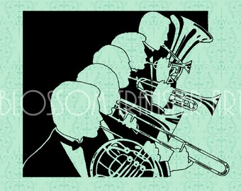 Orchestra - Musicians - Digital Graphics - Iron on Transfer - Download for papercrafts - Printable Graphics - DIY -  2457