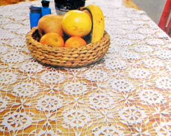 Thread Crochet Tablecloth Pattern, Lace Table Cover, Table Topper Pattern