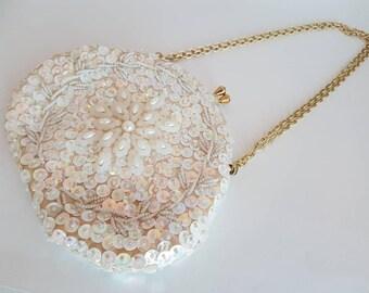 Ivory Clutch Bridal Clutch Beaded Clutch Evening Bag White Clutch 1930s Clutch 1920s Clutch Gatsby Clutch Beaded Purse Beaded Handbag