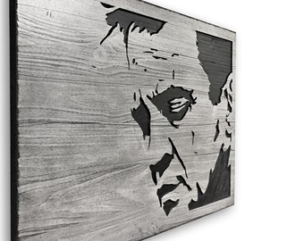 3D Wall Art, Carved, Johnny Cash Art, Wood Wall Art, Home Wall Decor, The Man In Black, Home Wall Decor, Print, Poster, Canvas, Painting