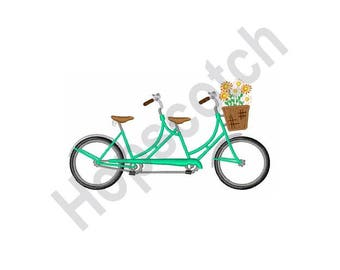 Tandem Bike Built For Two - Machine Embroidery Design