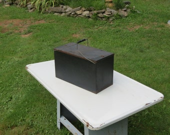 Old Galvanized Metal Cooler
