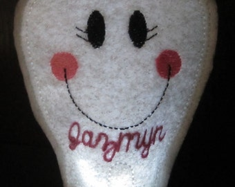 Tooth Fairy Tea Light Cover with Personalization! Combine with Pouches for gift sets!