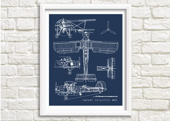 Biplane blueprint airplane blueprint biplane wall art biplane blueprint airplane blueprint biplane wall art fairey swordfish old aircraft blueprint vintage aircraft blueprint 5x7 8x10 malvernweather Gallery