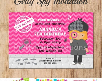 GIRL SPY invitation - YOU Print