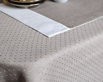 Natural placemats Gray white placemats Linen Placemats Set 6 place mats Dinner placemats Wedding party placemats Easter Table decor mats