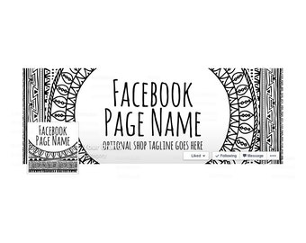 Timeline Cover and Profile Picture - Facebook Timeline Cover Facebook Cover - Sewing Themed - Social Media Cover - Boho Style 100-16