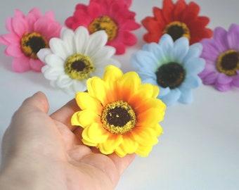 Yellow flowers Rustic flowers Artificial sunflowers Wreath making Floral arrangement Flower letter Flower head Nursery decor Silk flowers