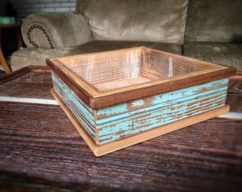 Wooden coffee table tray