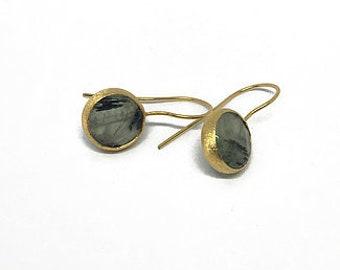 Grey Natural Stone Earrings