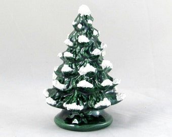 Small Vintage Style Ceramic Christmas Tree - 4.5 inches