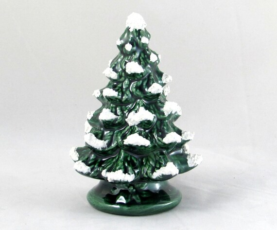 Small Vintage Style Ceramic Christmas Tree 4.5 Inches