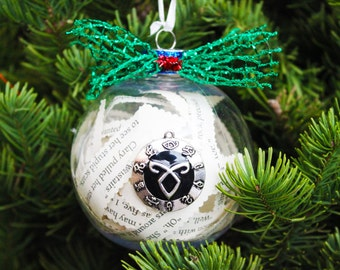 The Mortal Instruments Ornament • ShadowHunter • Christmas Gift • Tree Ornaments • Holiday • Jace Wayland • Infernal Devices •LIMITED NUMBER