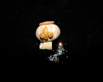 Fleur de Lis Jar Polymer Clay Miniature Imaginative Fairy Play