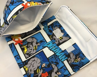 Batman Comic Reusable Sandwich Bag, Reusable Snack Bag