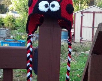 Crochet Ladybug Hat For All Ages and Sizes