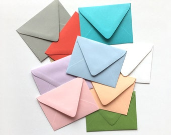 Set of 5 envelopes, A2 envelopes 4 3/8 x 5 3/4, Euro pointed flap envelopes, High quality envleopes