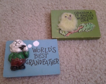 Vintage Grandma & Grandpa Appreciation Plaques