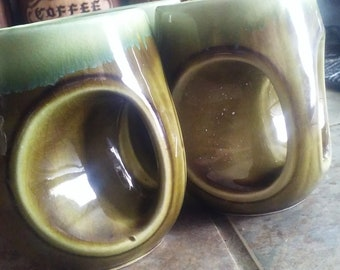 Green unique mugs from japan