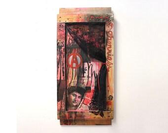 Madame Rose, Mixed Media Wall Art